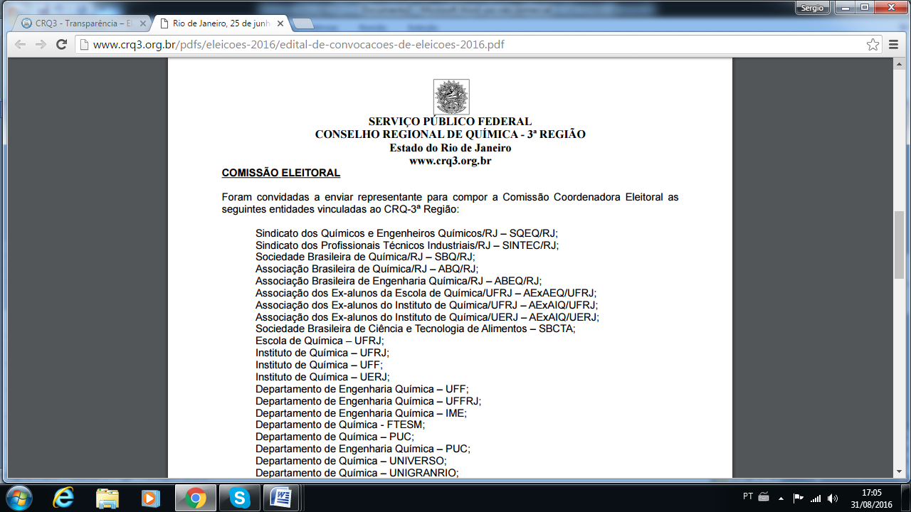 Eleições CRQ-3 3